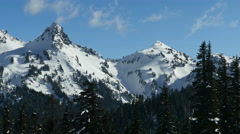 Tatoosh Range in Mt Rainier National Park Stock Footage
