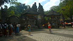Tirta Empul temple. The territory near the main entrance Stock Footage