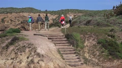 Point Lobos State Park, family activity, hikers Stock Footage