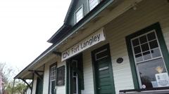 Fort Langley landmark railway Stock Footage