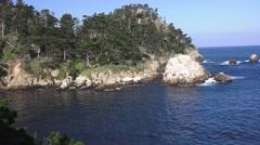 Point Lobos State Park, Rugged coastline Stock Footage