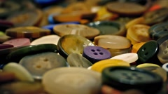 Colorful Mixed Buttons Rotating Stock Footage
