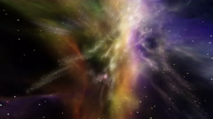 Flying through star fields in space - The Heavens 0503 HD, 4K Stock Footage Stock Footage