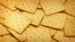 Crackers Rotating On Plate - stock footage