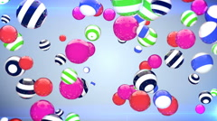 Abstract background with rotating multi-colored balls Stock Footage