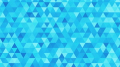 Triangles animation, pattern of geometric shapes. Colorful-mosaic background. Stock Footage