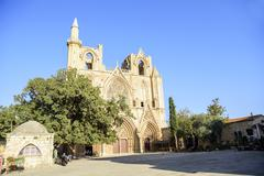 Lala Mustafa Pasha Mosque in Famagusta, Cyprus - stock photo