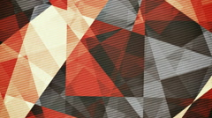 Retro vintage coloured rotating triangles abstract background - stock footage