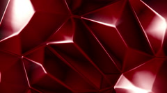 Rotating red crystals abstract background seamless loop Stock Footage