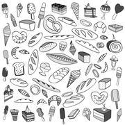 Set of ice-cream Stock Illustration