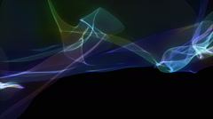 Abstract loop. Smoke, gas, incense, plasma animation background. Rainbow colors. Stock Footage