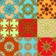 Gorgeous seamless pattern Stock Illustration