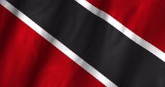 Stock Video Footage of Trinidad & Tobago Waving Flag 4K