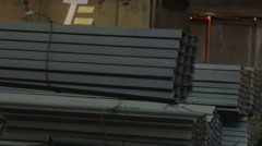 Crane gruzyaschy metal blank in the shop Stock Footage