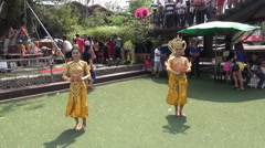 Traditional Thai Dancing At A Bangkok Temple Stock Footage