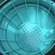 3d render of a close up of a nuclear reactor core. Stock Illustration