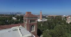 Bovard to Los Angeles Skyline Stock Footage