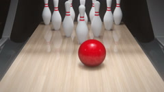 Bowling Strike Stock Footage