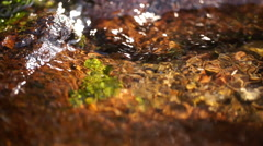 Slow Motion Closeup Of Spring Water Stock Footage