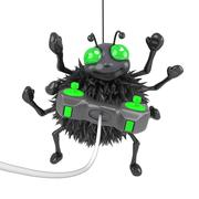 3d render of a spider playing a videogame Stock Illustration
