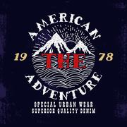 The American Adventure.Print design. Stock Illustration