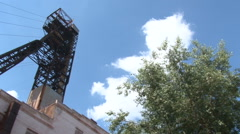 Metal structure against the sky Stock Footage