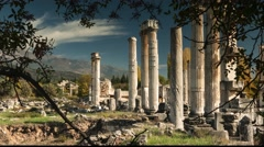 Ancient ruins of Aphrodisias, the Temple of Aphrodite. Time lapse, 4k Stock Footage