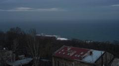 Black Sea Pan Stock Footage