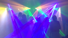 people dancing in a disco - stock footage