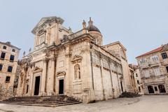 The Assumption of the Virgin mary Cathedral in Dubrovnik, Croatia - stock photo