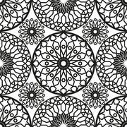 Ornamental round morocco seamless pattern. Orient traditional ornament. Orien Stock Illustration