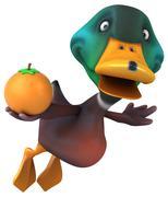 Fun duck - stock illustration