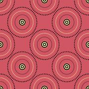Seamless Abstract Modern Pattern from Circles and Dots Stock Illustration