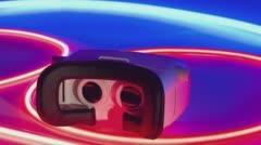 Smart virtual reality glasses new technology Stock Footage