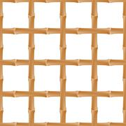 Seamless background with   bamboo - stock illustration
