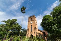 Historic Anglican Church of St. Paul in Kandy - stock photo
