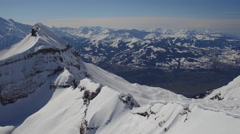 Aerial view of Mont Blanc Stock Footage