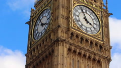 The Big Ben clock at the Palace of Westminster - stock footage