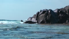 Rocks and the Water Stock Footage