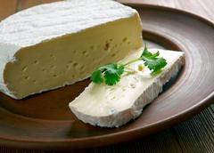 Round Brie cheese Stock Photos