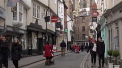 York England busy shopping market time lapse 4K Stock Footage