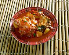 Filipino Chicken Asado Stock Photos