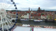 GDANSK, OLD TOWN CENTRE // AERIAL FOOFTAGE// 04 Stock Footage
