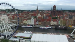 GDANSK, OLD TOWN CENTRE // AERIAL FOOFTAGE// 03 Stock Footage