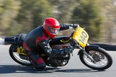 BROADFORD, VICTORIA/AUSTRALIA - APRIL 1, 2016:Road Racing Championships Stock Photos