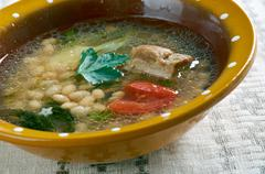 Albanian Bean Jahni Soup Stock Photos