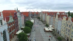 The Long Lane  in Gdańsk //AERIAL FOOTAGE// 01 Stock Footage