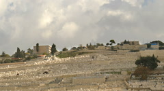 Mount of Olives and Grave Yard Stock Footage