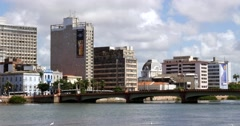 Capibaribe River in Recife, Pernambuco, Brazil Stock Footage