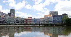Houses on Aurora street, Recife, Pernambuco, Brazil Stock Footage